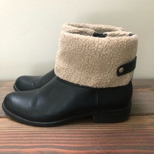 Style & Co Black Boots with Faux Fur